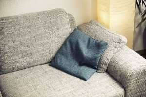 fabric cleaning-sofa-with-a-cushion